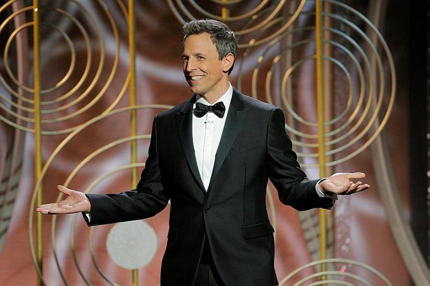 Seth Meyers was the host of the 75th Golden Globe Awards in Beverly Hills, California on Jan 8, 2018.