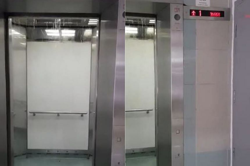 A clip of a lift overflowing with rainwater had gone viral on Jan 8.