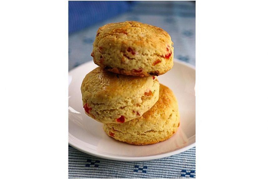 Delightful apricot scones.