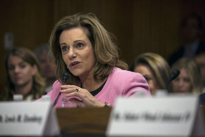 K.T. McFarland, US President Donald Trump's former Deputy National Security Adviser, testifies during her confirmation hearing to be the US ambassador to Singapore on July 20, 2017.