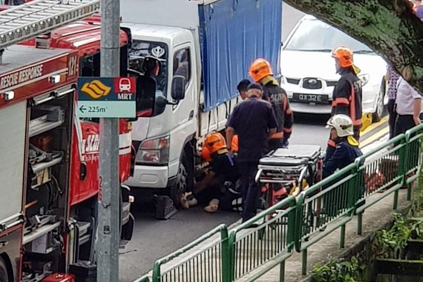 The accident involved a pedestrian and a lorry in Commonwealth, towards Queensway, at 3.19pm on Jan 8.