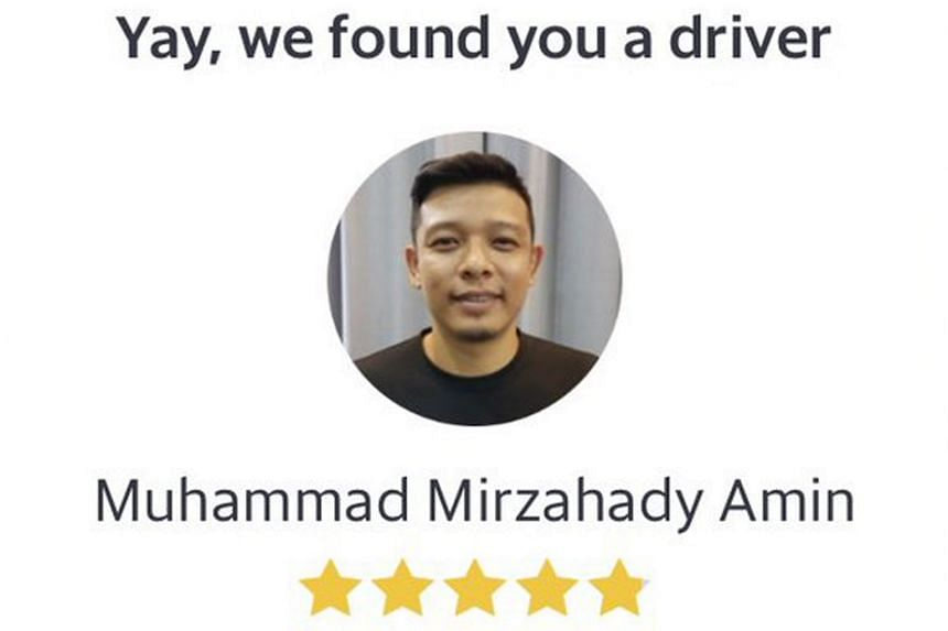 """A screengrab of a Grab driver's profile showing former singer Hady Mirza's profile photo and his real name """"Muhammad Mirzahady"""" was shared on Twitter."""