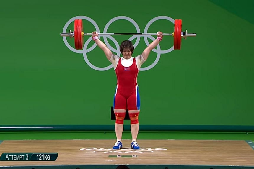 Rim Jong Sim won North Korea's first Olympic gold in Rio in the women's 75kg weightlifting on Aug 12, 2016.