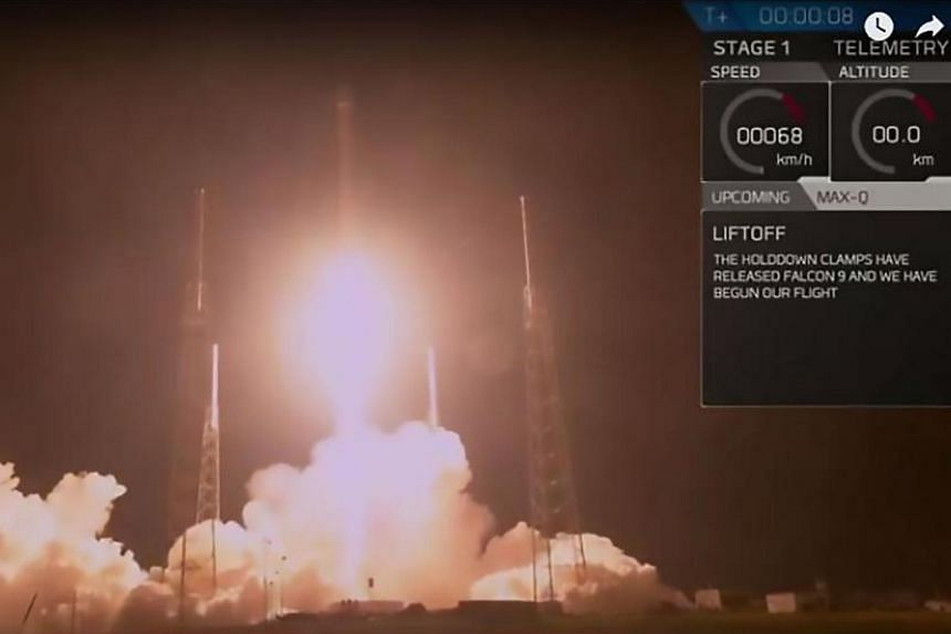 The launch of SpaceX's secretive US government payload, known as Zuma, on Jan 7, 2018.