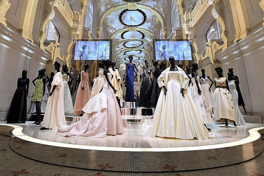 The Christian Dior, Couturier Du Reve exhibition at the Museum of Decorative Arts in Paris marked the label's 70th anniversary and showcased some 300 of its haute couture dresses.