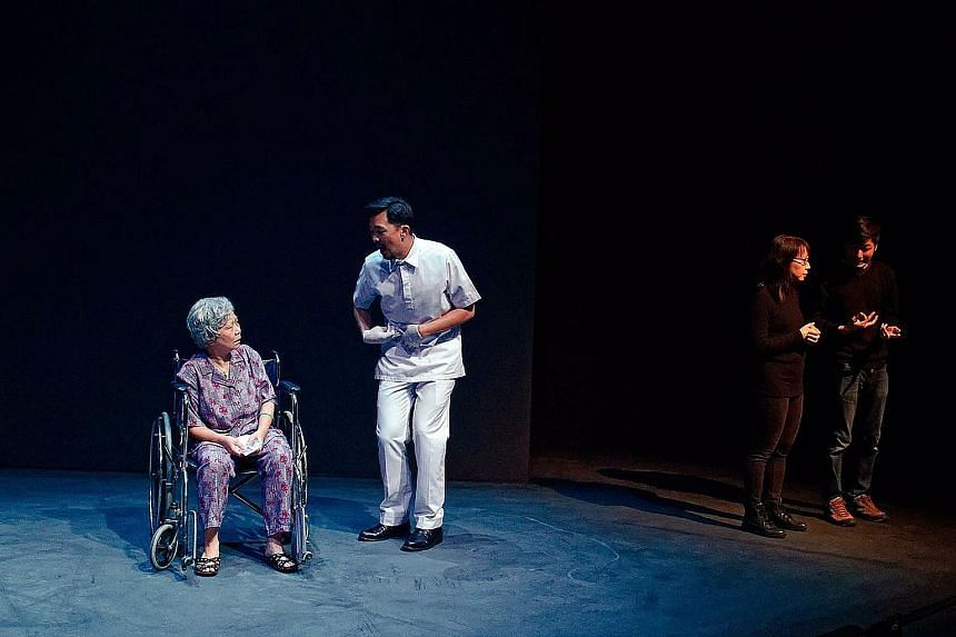 During Wild Rice's production of Grandmother Tongue in October last year, Ms Chan and Mr Teo Zhi Xiong were clad in black and quietly shared the stage with the play's three characters to provide sign language interpretation. With theatrical shows suc