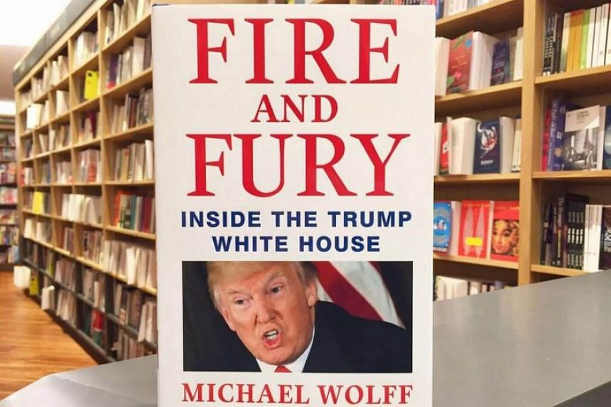 A copy of Fire And Fury: Inside The Trump White House by Michael Wolff at Books Kinokuniya.