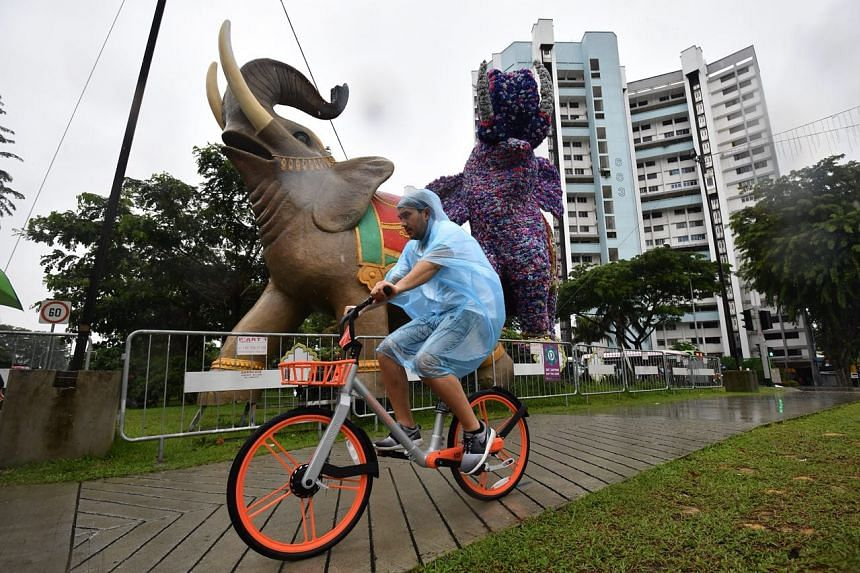 The National Environment Agency estimates overcast and windy conditions with moderate to heavy rain over Singapore for the next few days.