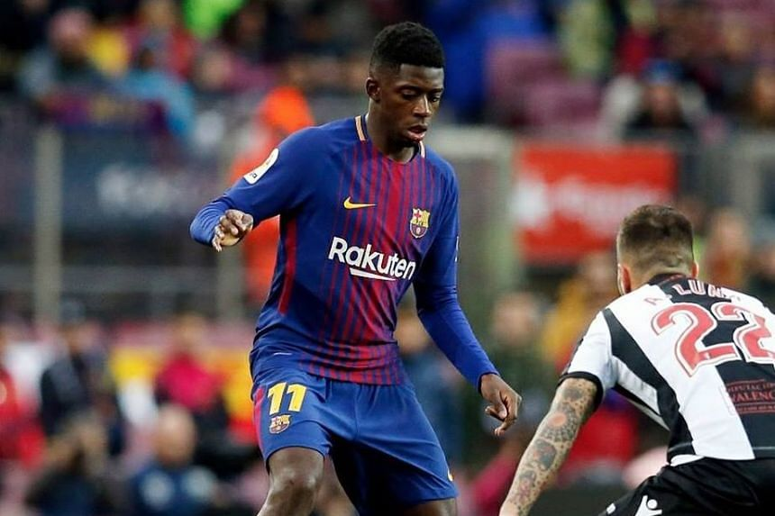 Signed from Borussia Dortmund in August for a club record fee of €147 million (S$234.2 million), Frenchman Ousmane Dembelewas brought to the Camp Nou to replace Neymar.