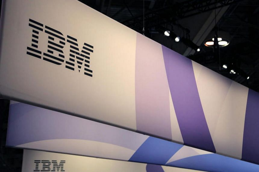 IBM's logo seen at the SIBOS banking and financial conference in Toronto, Canada, on Oct 19, 2017.