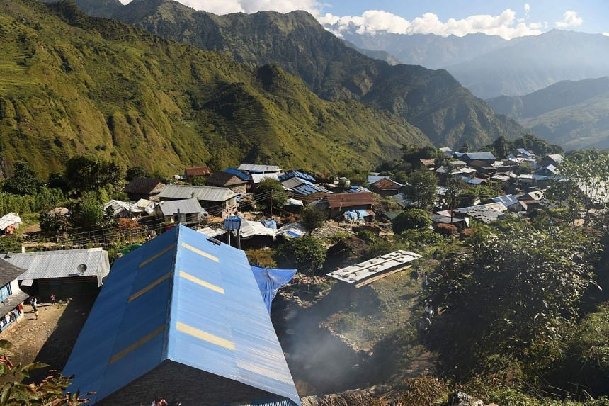 A general view of Lapa village in Dhading, Nepal. Many communities in Nepal view menstruating women as impure and in some remote areas they are forced to sleep in a hut away from the home, a practice known as chhaupadi.