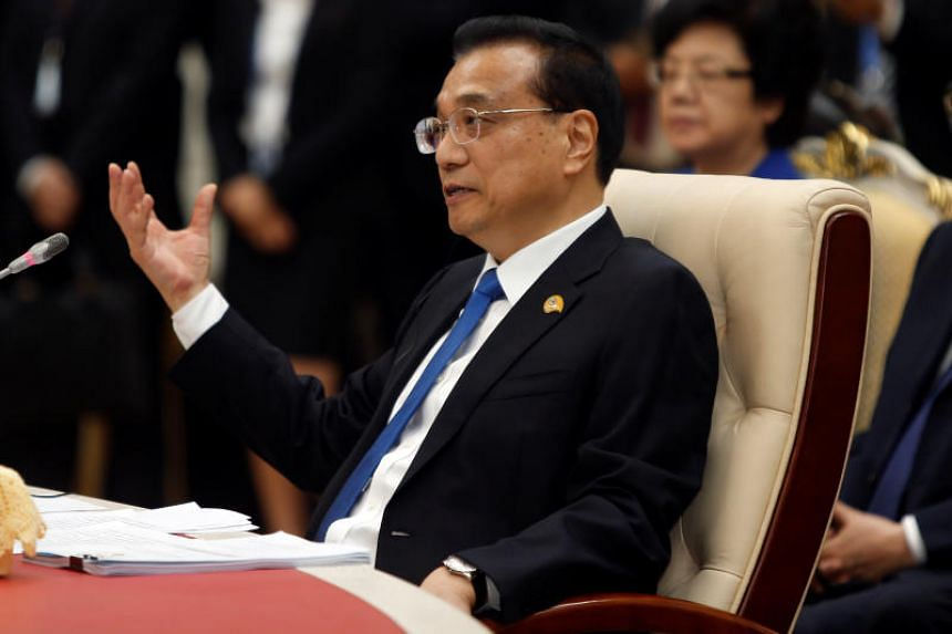 """Chinese Premier Li Keqiang chairs the second Mekong-Lancang Cooperation leaders meeting, under the theme """"Our River of Peace and Sustainable Development"""", in Phnom Penh, Cambodia on Jan 10, 2018."""