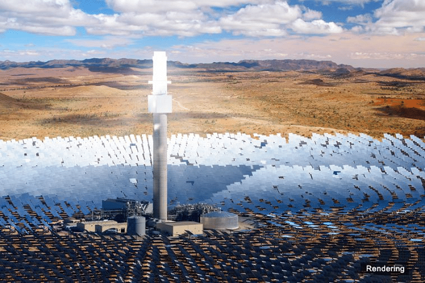 An artist's rendering of the Aurora Solar Thermal Plant, planned to be built in South Australia.