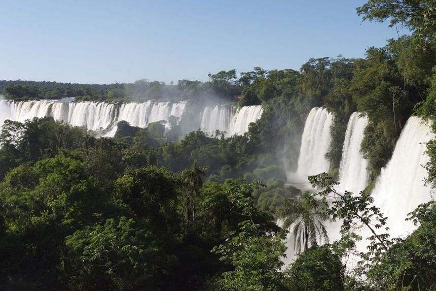The Devil's Throat of Iguazu Falls. The Iguazu Falls is made up of 275 waterfalls in Brazil and Argentina.