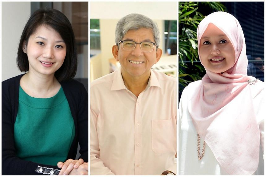 (From left) Pasir Ris-Punggol GRC MP Sun Xueling, Minister for Communications and Information Yaacob Ibrahim and Jurong GRC MP Rahayu Mahzam shared their experiences with fake news during the Parliament session on Jan 10, 2017.