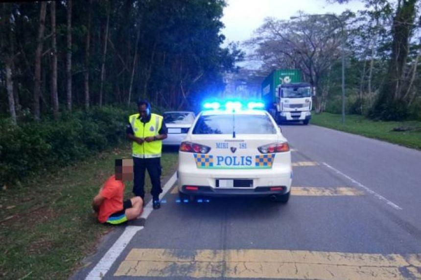The 33-year-old suspect, who was spotted in a forested area along a road, was arrested after a 5km car chase.