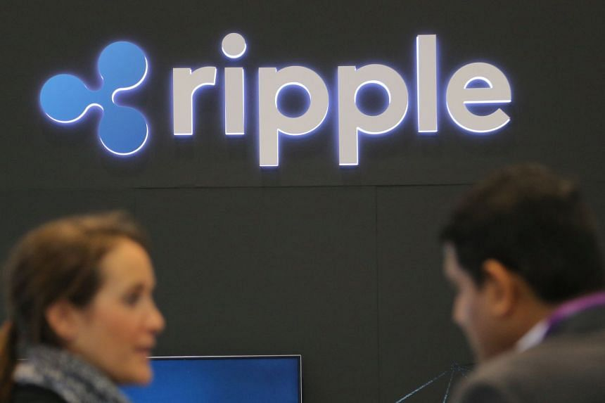 The logo of blockchain company Ripple at the SIBOS banking and financial conference in Toronto, Canada on Oct 19, 2017.