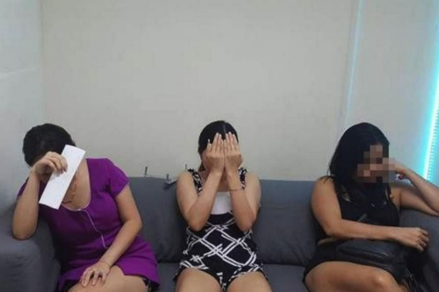 Six women were arrested for providing sexual services at massage parlours and 11 were arrested for working illegally as hostesses at public entertainment outlets.