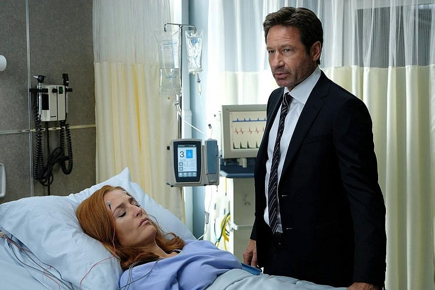 David Duchovny and Gillian Anderson (both left) return to The X-Files while Sarah Jessica Parker and Thomas Haden Church (both below) reappear in Divorce.