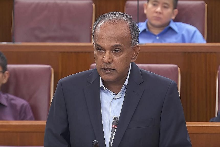 MR K. SHANMUGAM, Minister for Home Affairs and Minister for Law.