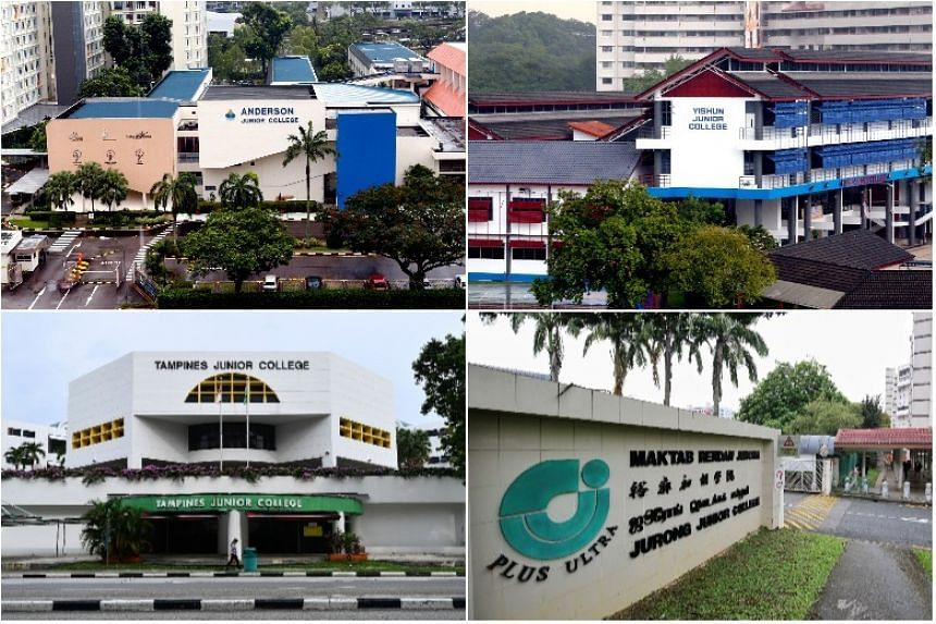 Anderson JC and Serangoon JC will be known as Anderson Serangoon JC, and Innova JC and Yishun JC will become Yishun Innova JC. Meridian JC and Tampines JC will be Tampines Meridian JC, and Jurong JC and Pioneer JC will be called Jurong Pioneer JC.
