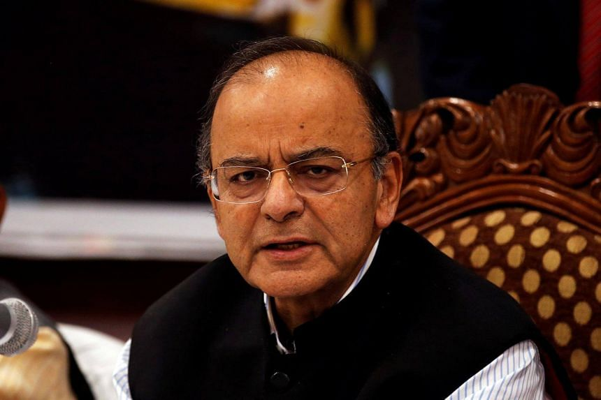 India's Finance Minister Arun Jaitley, seen here at a meeting in 2017, said this week that a new scheme to introduce electoral bonds will help to improve transparency in the funding of political parties in India.