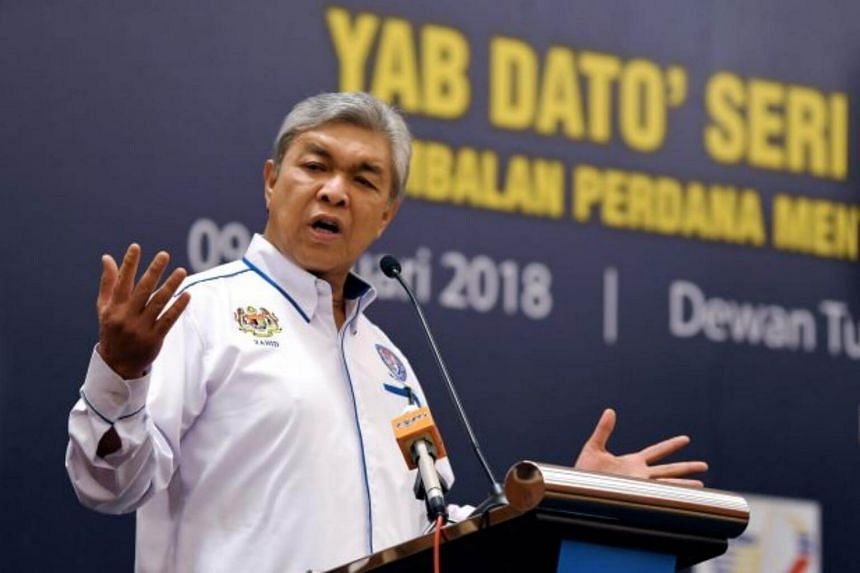 Malaysia's Home Minister Ahmad Zahid Hamidi denied claims by Malaysia's opposition that he had blocked a meeting between jailed opposition leader Anwar Ibrahim and former PM Mahathir Mohamad.
