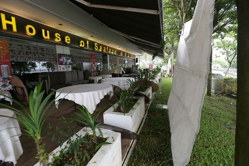 The restaurant has installed plastic protectors in the alfresco area to prevent rain and wind from blowing indoors.