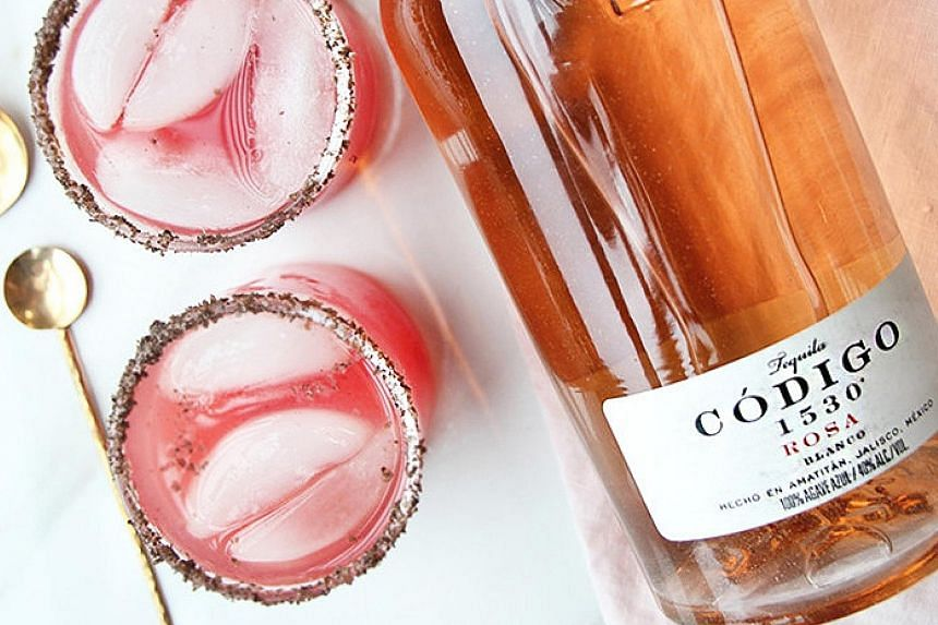 Audace's Codigo 1530 pink tequila cocktail.