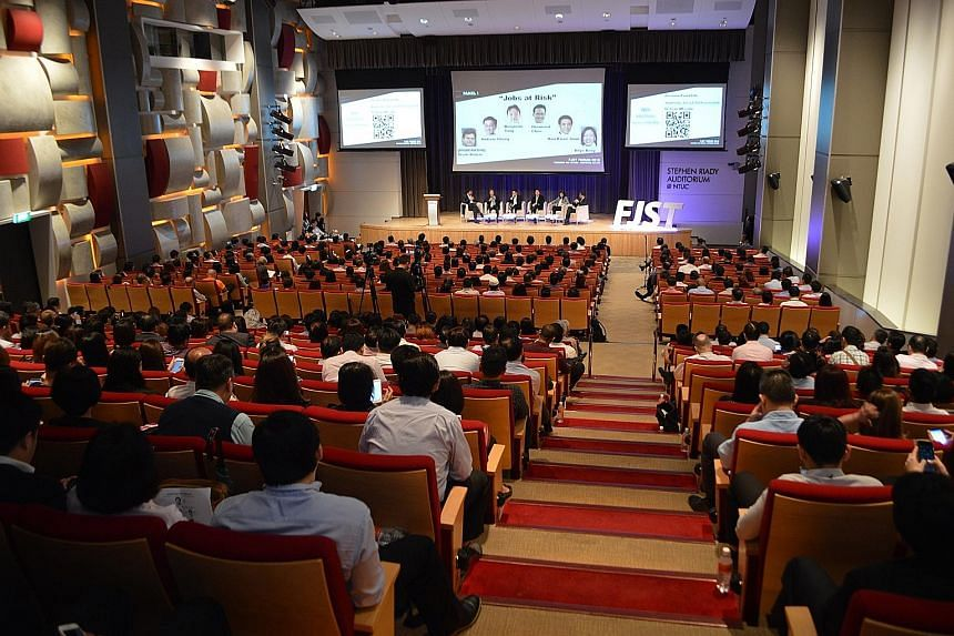 Some 550 people attended the event organised by NTUC. Panellists at the forum discussed the fast-changing jobs and skills arenas.