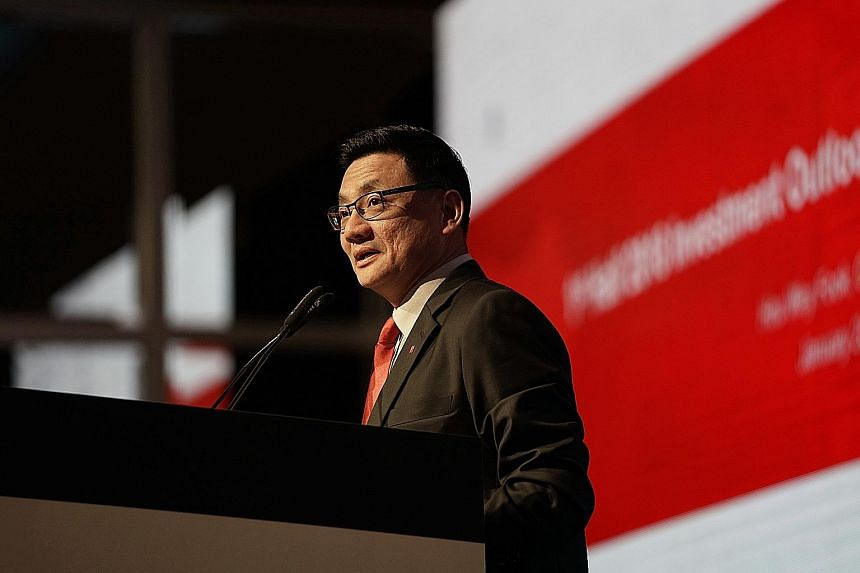 Mr Hou Wey Fook, DBS Bank's chief investment officer, yesterday said the market will eventually enter bearish territory when it hits euphoria levels, but that has not happened yet.