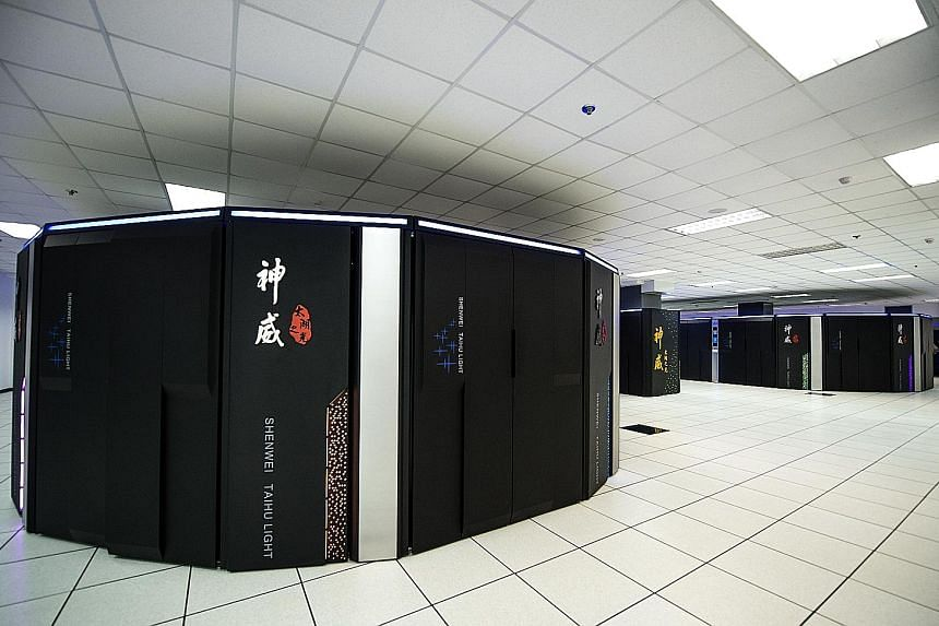 The two fastest supercomputers (the Taihu Light, above) are in China, with the US and Japan dominating most of the rest of the top 10. The EU is concerned that renting supercomputers located elsewhere increases the chances that sensitive information