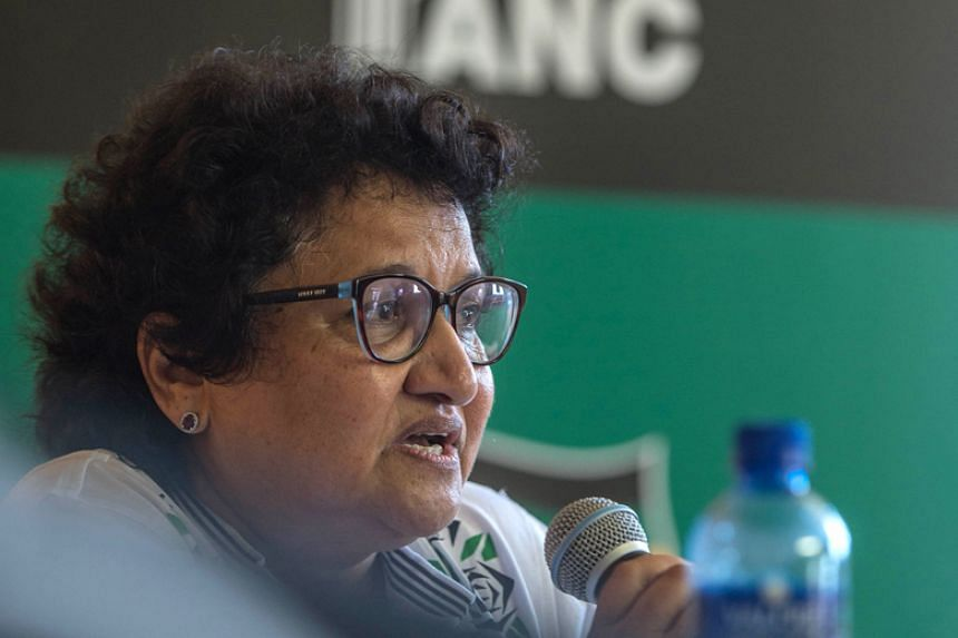 Jessie Duarte, the deputy secretary general of the African National Congress (ANC) addresses the media ahead of the 106th anniversary of the ANC at the East London City Hall on Jan 12.
