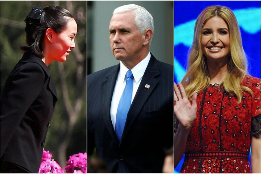 (From left) Kim Yo Jung, Mike Pence, and Ivanka Trump are expected to attend the 2018 Pyeongchang Winter Olympics.