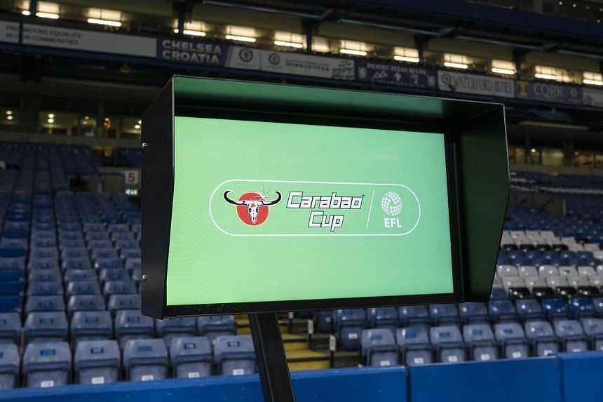 The Video Assistant Referee (VAR) system pitchside ahead of the Carabao Cup semi final first leg match between Chelsea and Arsenal, on Jan 10, 2018.