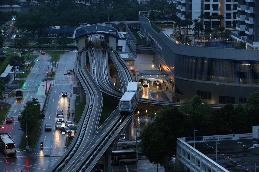 Service along the Bukit Panjang LRT resumed at about 6:30pm.