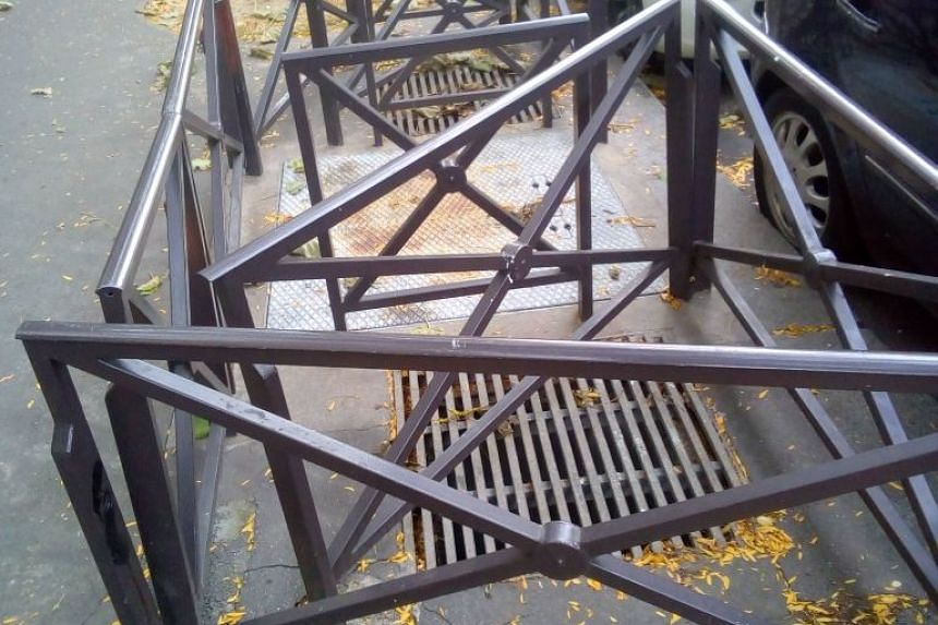 On Christmas Day, Christian Page    tweeted a picture of the metal barriers erected by the city around a warm air vent in northeast Paris used by some homeless people to keep warm.