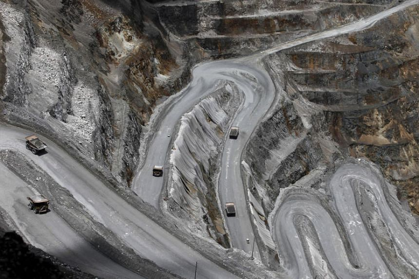 The open-pit mine of PT Freeport's Grasberg copper and gold mine complex near Timika, in the eastern region of Papua, Indonesia, on Sept 19, 2015.