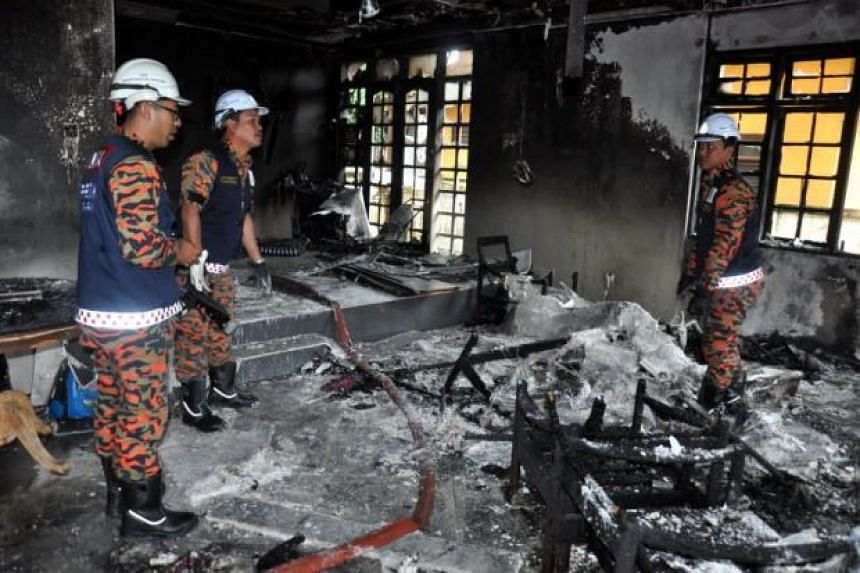 Kuala Ibai Umno branch deputy chief Ahmad Fakhrurazi Shafie died while trying to rescue his three-year-old son from a fire that broke out at their semi-detached house in
