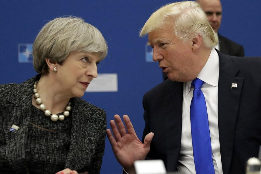 British Prime Minister Theresa May invited US President Donald Trump for a state visit in 2017.
