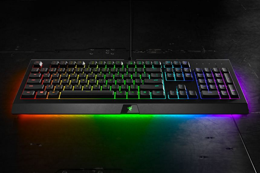 The Razer Cynosa Chroma is not as noisy as mechanical keyboards as it uses plastic membranes with rubber switches. PHOTO: RAZER