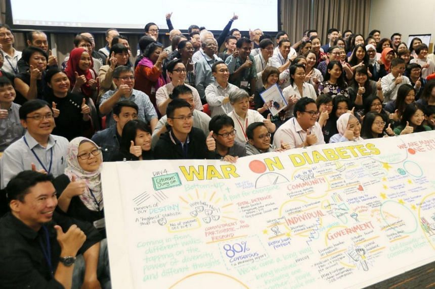 The inaugural Citizens' Jury, comprising 76 people from different walks of life, were tasked to come up with ideas on how to prevent and manage diabetes in Singapore.