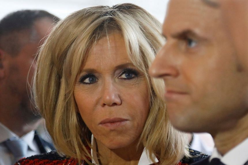 Emmanuel Macron fell for Brigitte (both above) during rehearsals for a school play.