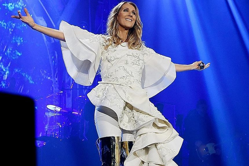Celine Dion is known for hit songs such as My Heart Will Go On and Because You Loved Me.
