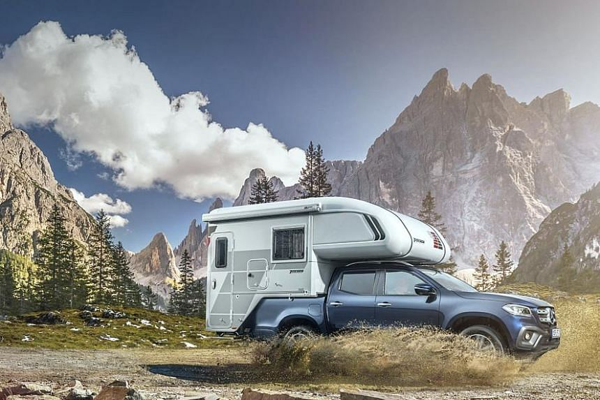 This is a camper-van concept based on the Mercedes-Benz X-class.