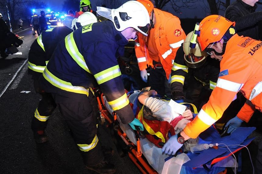 Five of the injured were said to be in a serious condition.
