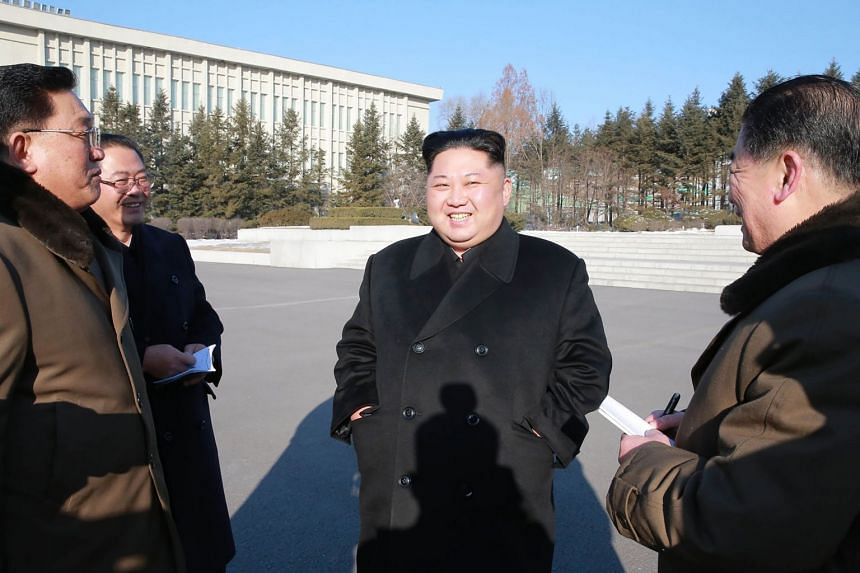 North Korean leader Kim Jong Un conducts inspection on the State Academy of Sciences in his first public event since his New Year's address.