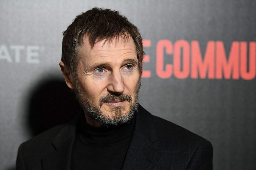 Actor Liam Neeson attending the New York premiere of The Commuter at AMC Loews Lincoln Square on Jan 8, 2018.