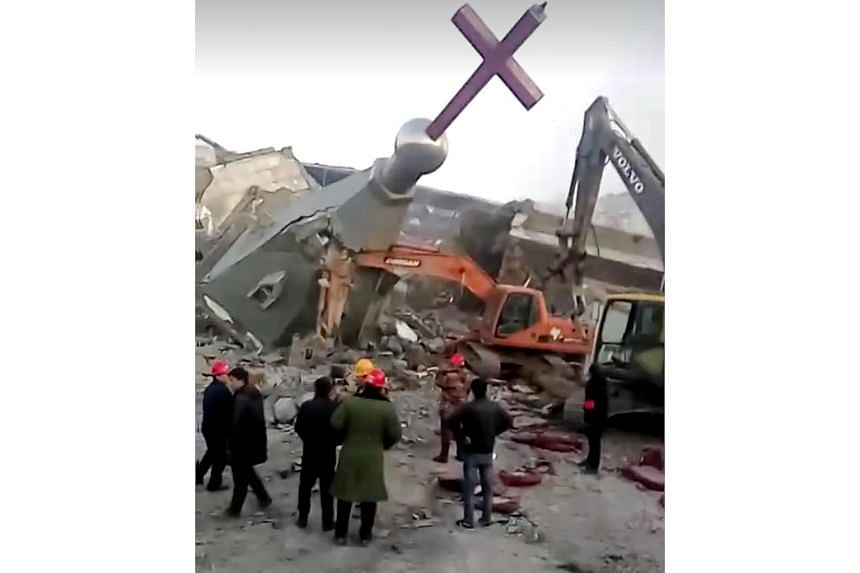 The Golden Lampstand Church in the northern province of Shanxi was one of at least two Christian churches demolished by authorities in recent weeks.
