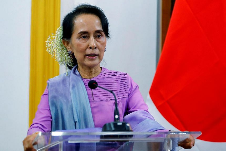 """Myanmar's civilian leader Aung San Suu Kyi raised the army's admission of involvement in the Inn Din killings as a """"new step taken by our country""""."""